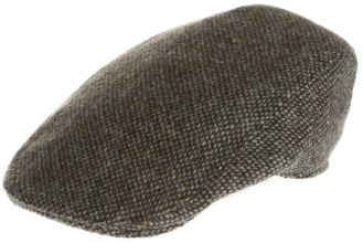 Men's tweed caps Donegal Touring Cap Tweed Green Salt-n-Pepper