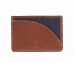 Leather Langdale Card Holder Navy