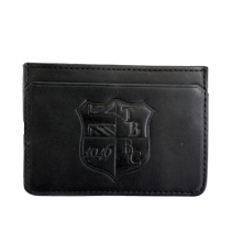 Leather Lanlay Card Holder Black