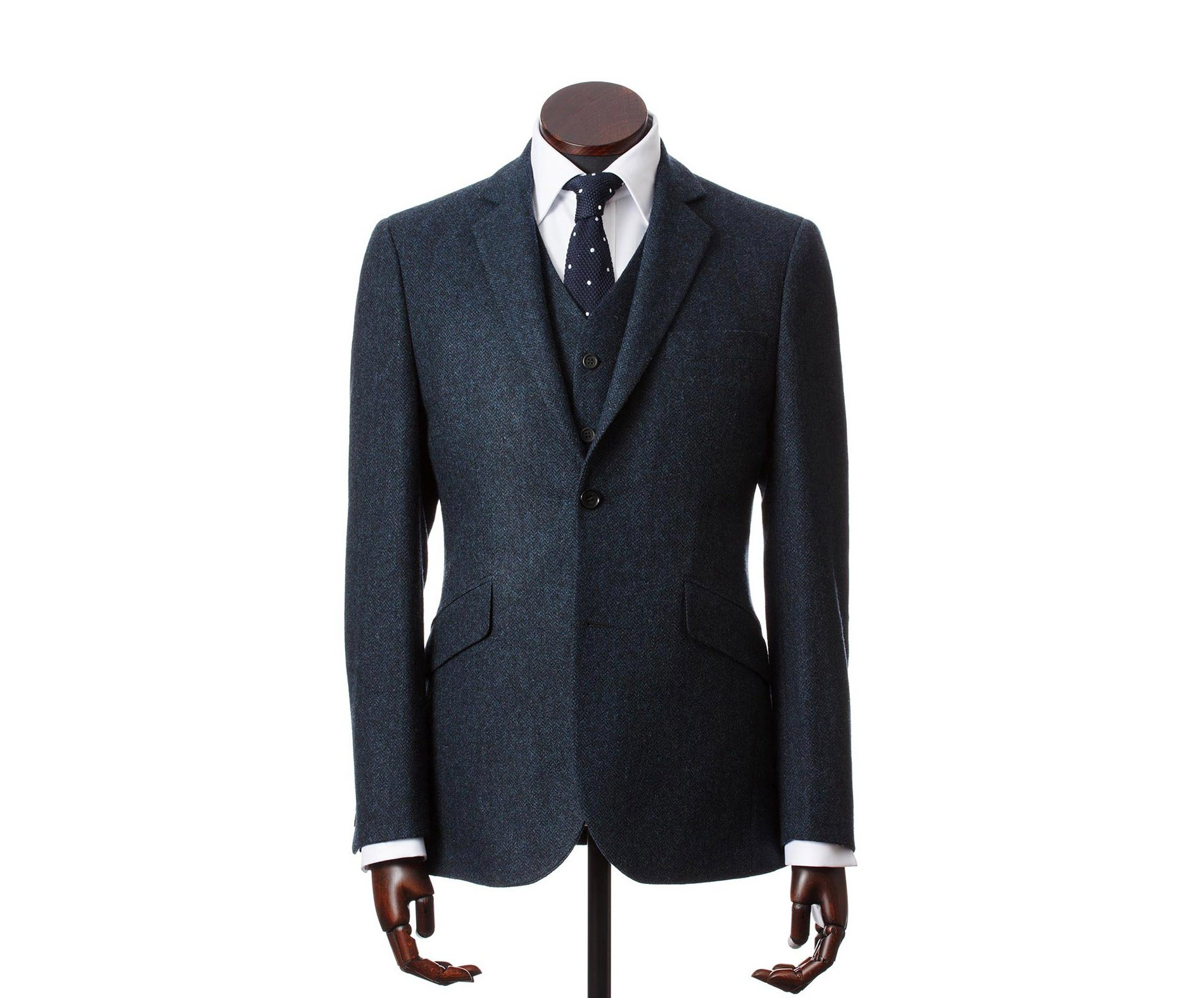 Men's Tweed Suits Martin Navy