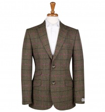 Men's Tweed Jackets & Blazers Patrick Green Pink Check