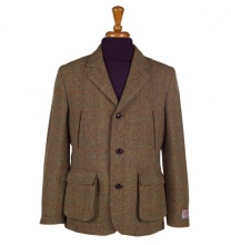 Men's Tweed Jackets & Blazers Callum Utility Mustard