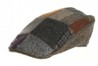 Men's tweed caps Donegal Touring Cap Patchwork Tweed