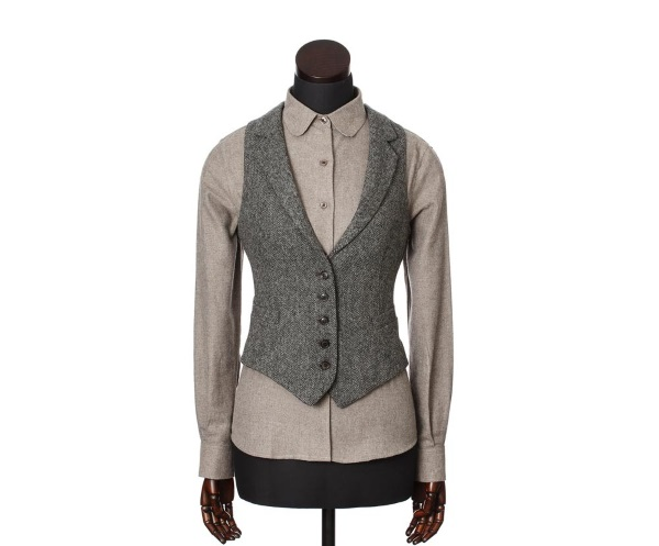 Women's Tweed Waistcoats Iona Charcoal