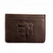 Leather Lanlay Card Holder Chestnut