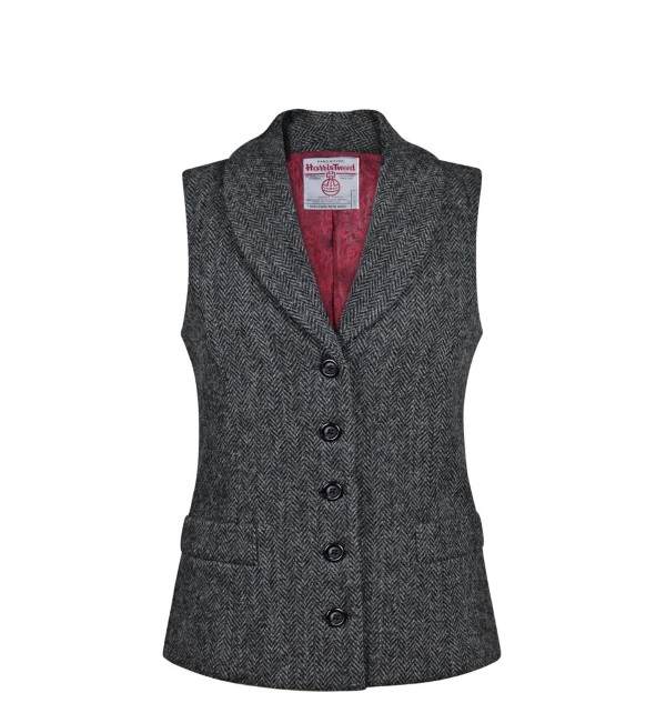 Women's Tweed Waistcoats Isobel Charcoal