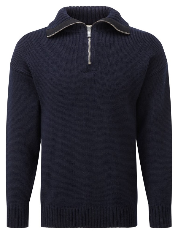 Knitwear Zip Neck Submariners Navy