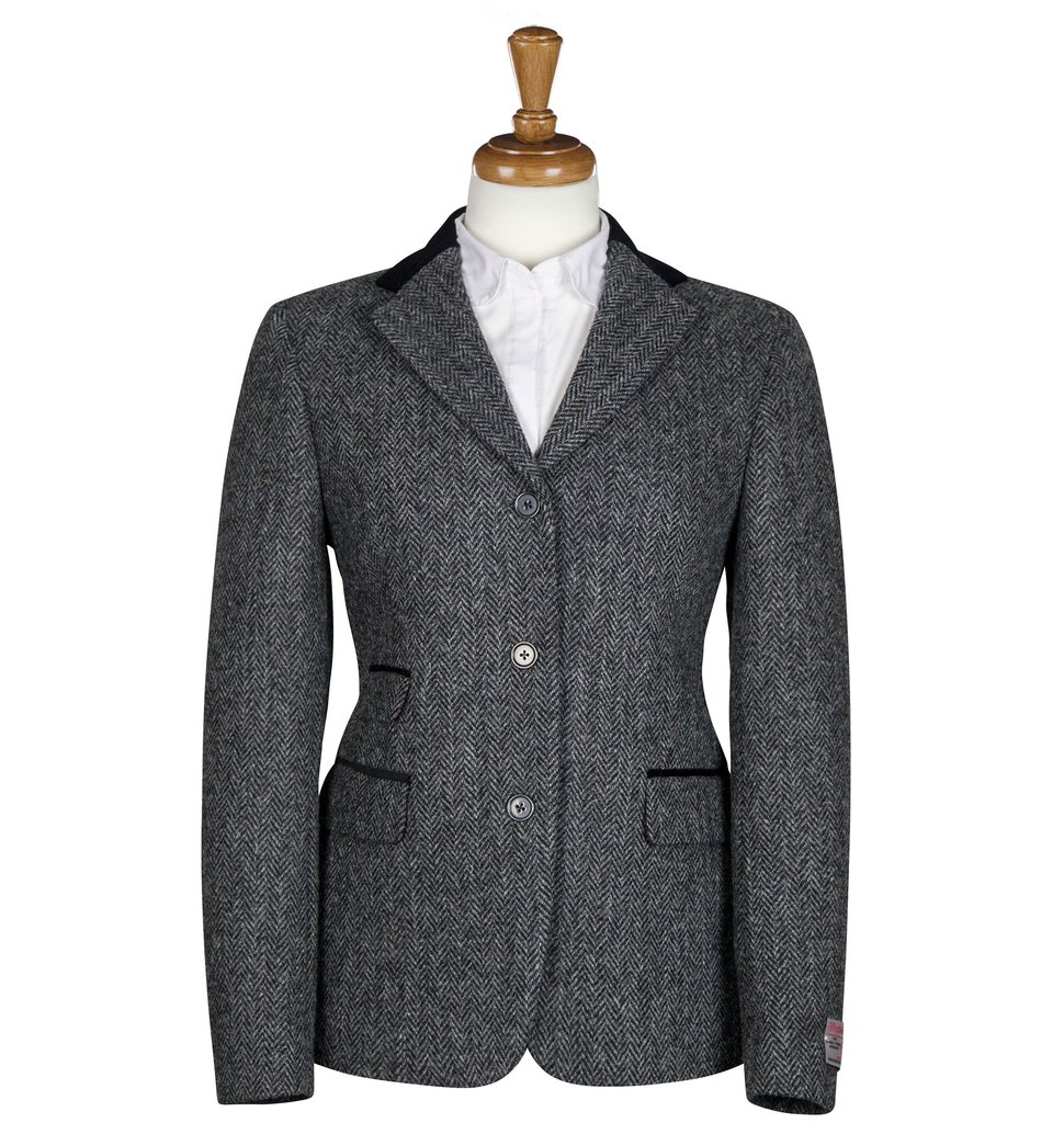 Women's Tweed Jackets Sarah Charcoal