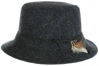 Men's tweed hats Walking Hat Tweed Blue Salt-n-Pepper