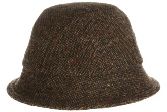 Men's tweed hats Eske Hat Tweed Brown Salt-n-Pepper