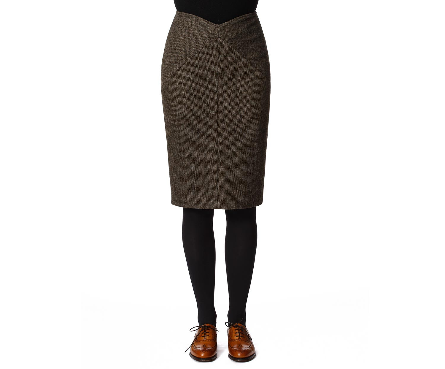 Women's Tweed Skirts Victoria Brown