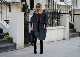 Tweed coat in Oversize style