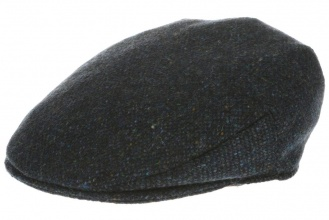 Men's tweed caps Vintage Cap Tweed Blue Salt-n-Pepper