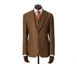 Men's Tweed Jackets & Blazers Edward Tan Puppytooth