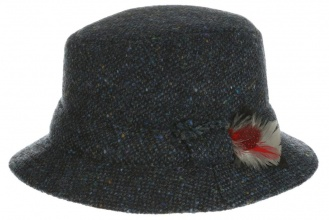 Men's tweed hats Dave Hat Tweed Blue Salt-n-Pepper