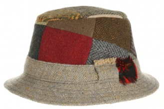 Men's tweed hats Dave Hat Patchwork Tweed
