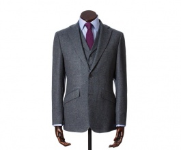Men's Tweed Jackets & Blazers Edward Navy Cashmere