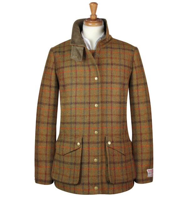 Women's Tweed Overcoats Joanna Brown Orange