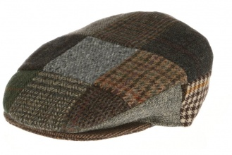 Men's tweed caps Vintage Cap Patchwork Tweed