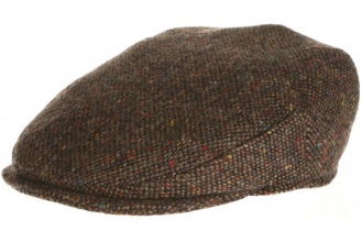 Men's tweed caps Vintage Cap Tweed Brown Salt-n-Pepper