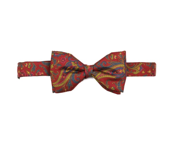 Men's tweed bow ties Spike Paisley Red