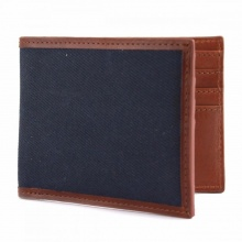 Leather Langdale Wallet Navy