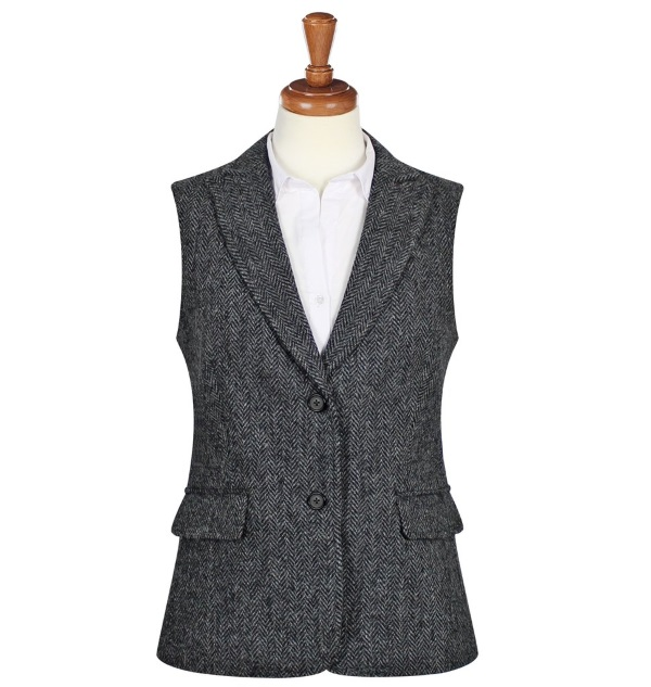 Women's Tweed Waistcoats Pippa Charcoal