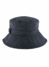 Hats Abraham Moon Herringbone Bucket Hat Navy