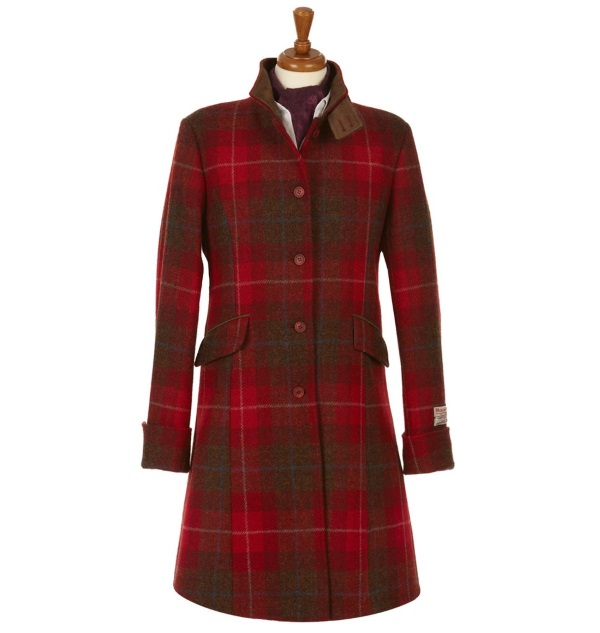 Women's Tweed Overcoats Fiona Red