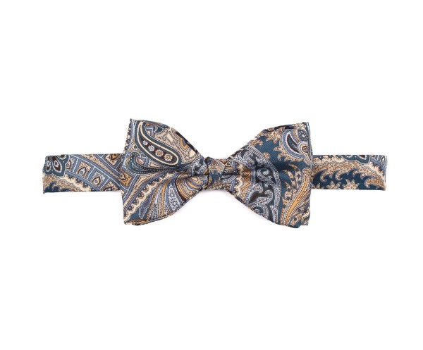 Men's tweed bow ties Old Paisley Blue