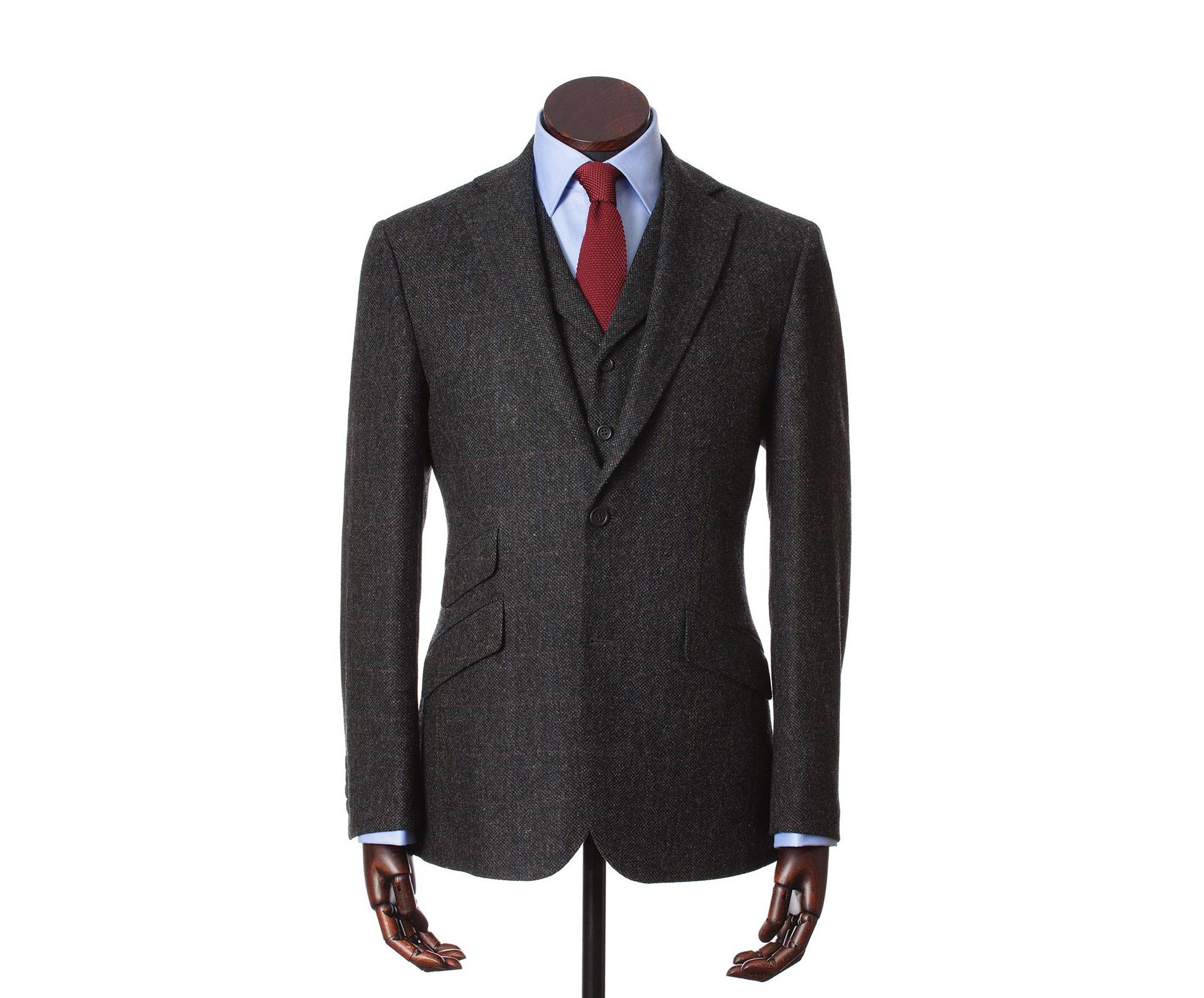 Suits Edward Charcoal Red
