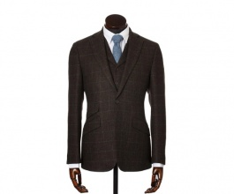 Men's Tweed Jackets & Blazers Edward Brown Blue