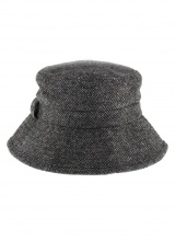 Hats Abraham Moon Herringbone Bucket Hat Charcoal