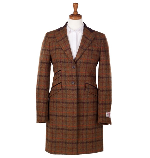 Women's Tweed Overcoats Tori Brown Orange