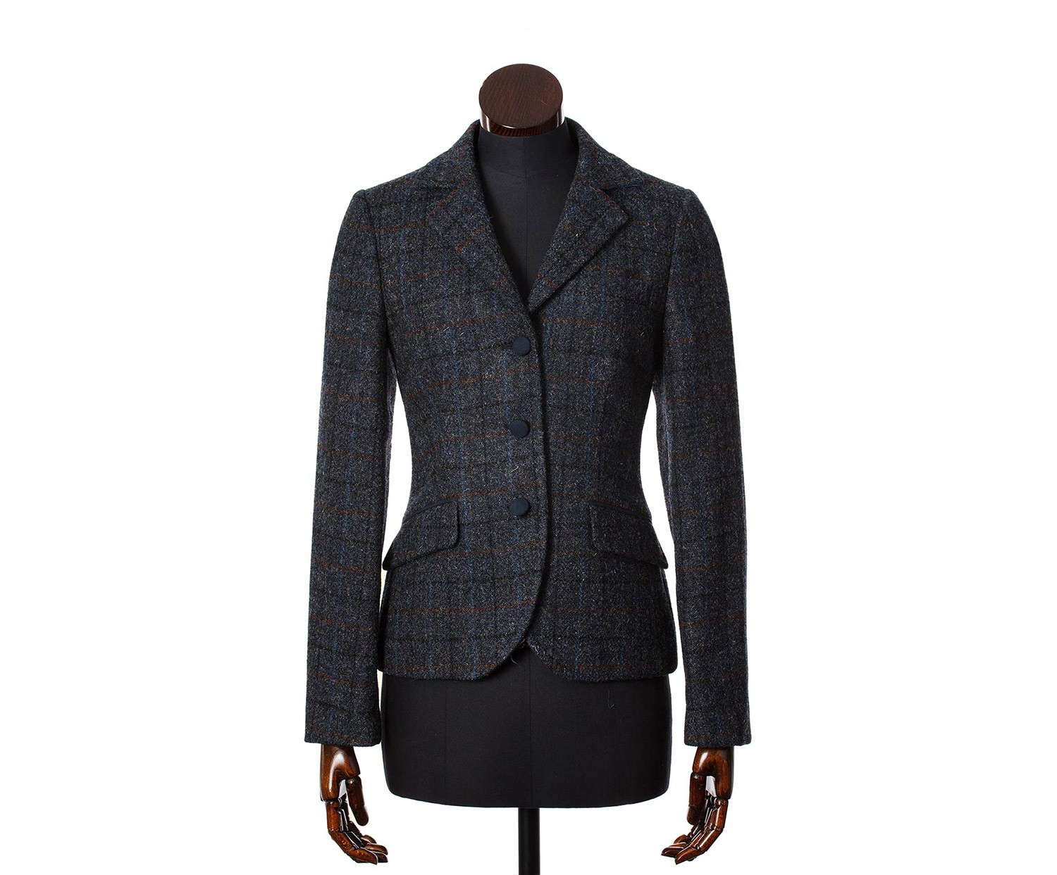 Jackets Ronay Navy Multicheck Harris Tweed