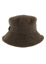 Hats Abraham Moon Herringbone Bucket Hat Chocolate
