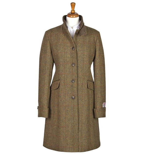 Women's Tweed Overcoats Fiona Mustard